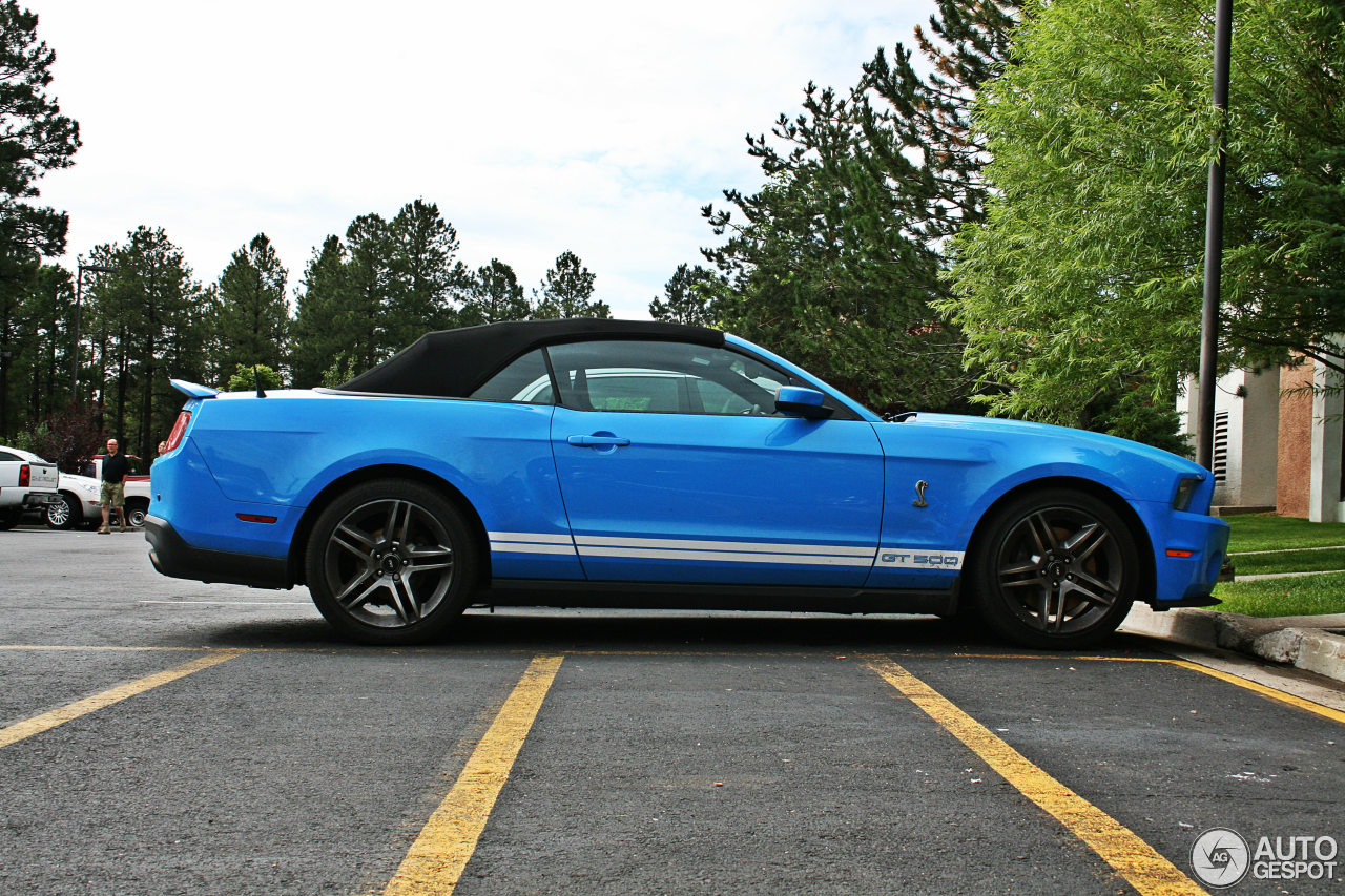 ford mustang shelby gt500 convertible 2010 11 january 2013 autogespot. Black Bedroom Furniture Sets. Home Design Ideas