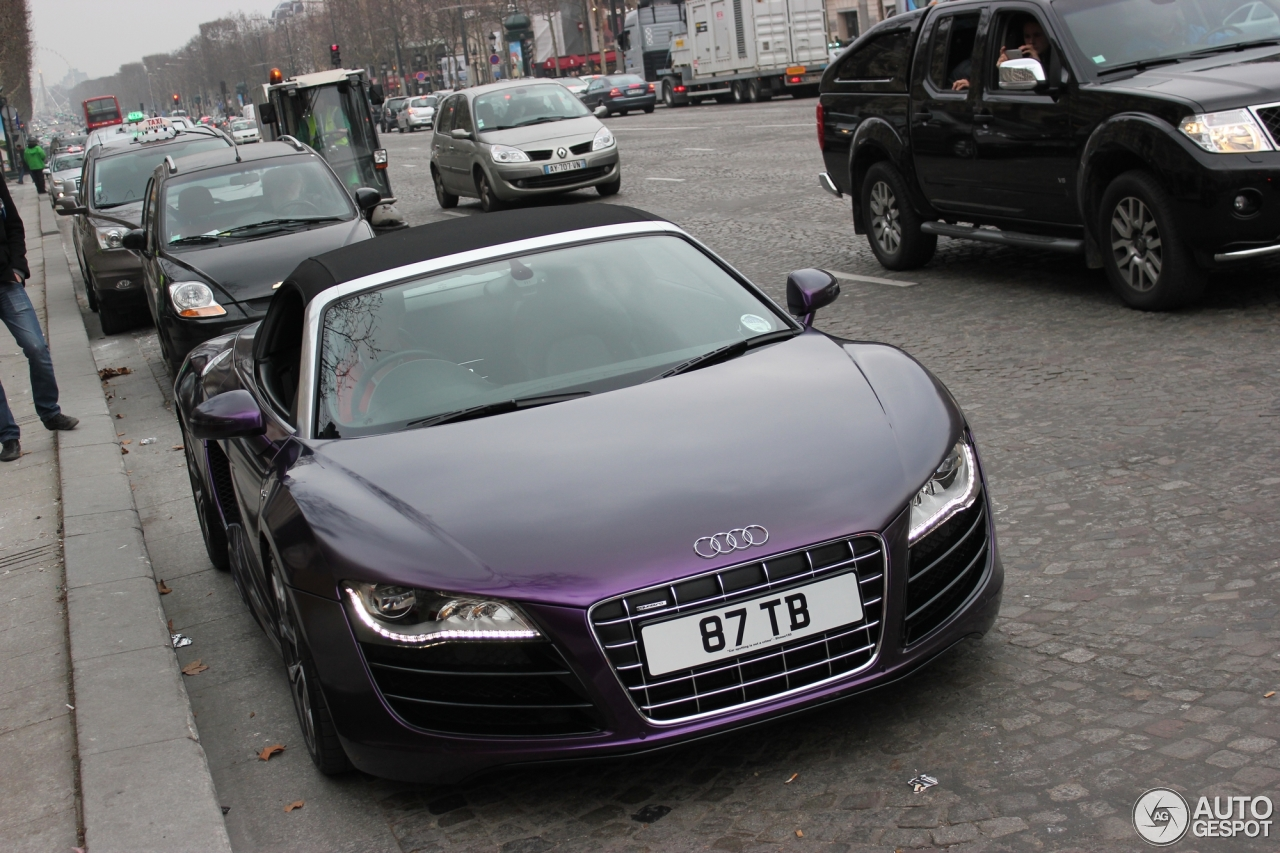 audi r8 v10 spyder 23 february 2013 autogespot. Black Bedroom Furniture Sets. Home Design Ideas