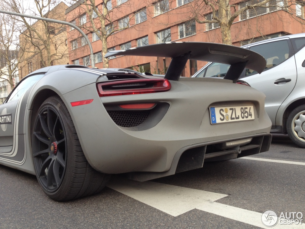 porsche 918 spyder 16 april 2013 autogespot. Black Bedroom Furniture Sets. Home Design Ideas