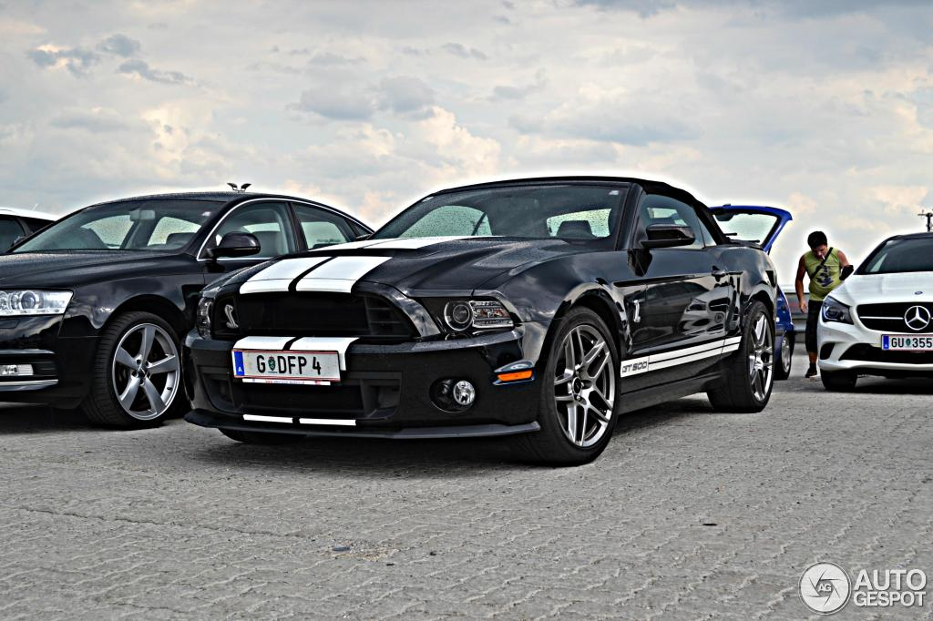 ford mustang shelby gt500 convertible 2014 21 july 2013 autogespot. Cars Review. Best American Auto & Cars Review