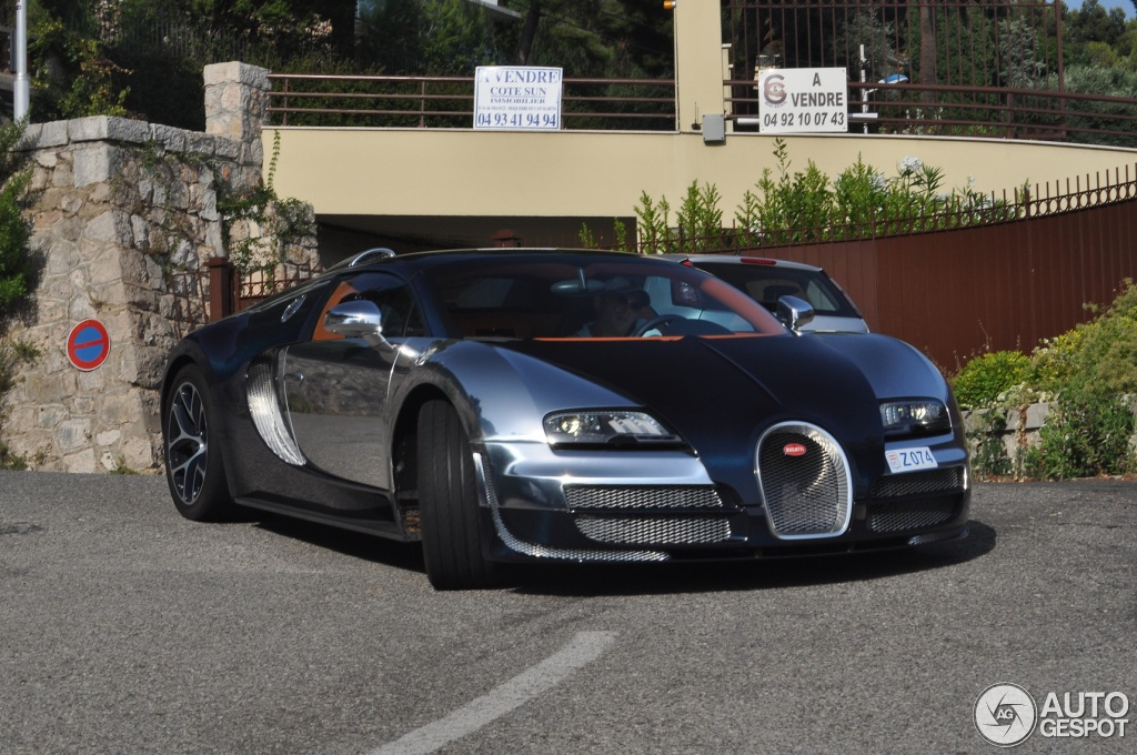 bugatti veyron grand sport vitesse in monaco photo of the. Black Bedroom Furniture Sets. Home Design Ideas