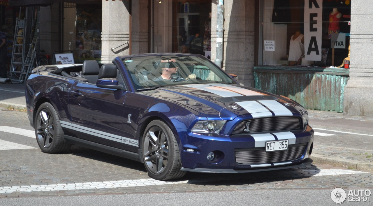 ford mustang shelby gt500 convertible 2010 16 august 2013 autogespot. Black Bedroom Furniture Sets. Home Design Ideas