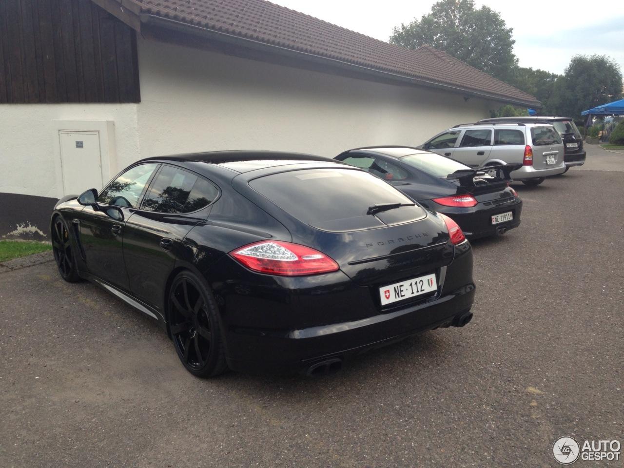 2012 Porsche Panamera Turbo S Black on Black 550 hp BEAST ...