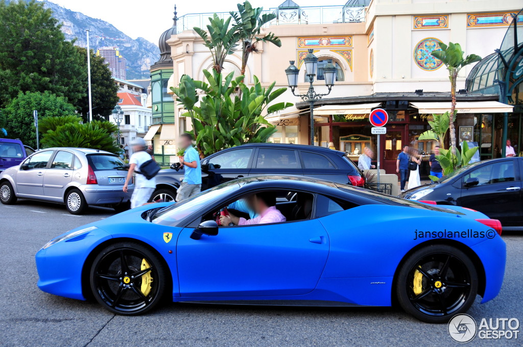 8 i ferrari 458 italia 8 - Ferrari 458 Blue And White