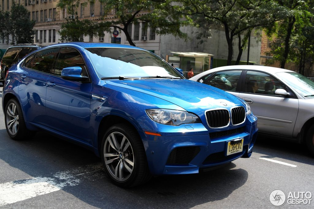2013 Bmw X6 M Blue 200 Interior And Exterior Images