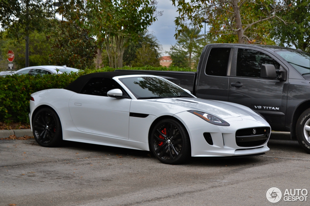 jaguar f type s v8 convertible 17 november 2013 autogespot. Black Bedroom Furniture Sets. Home Design Ideas