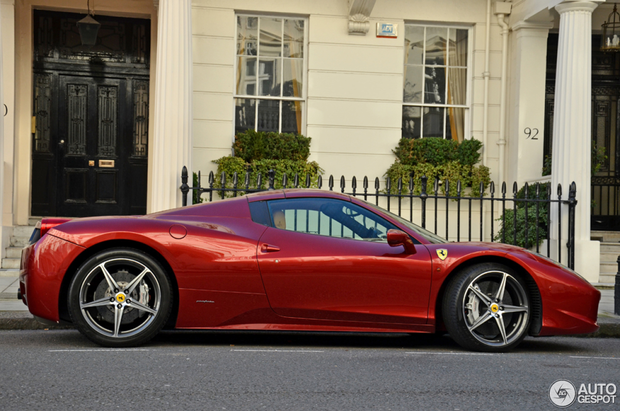Ferrari 458 info