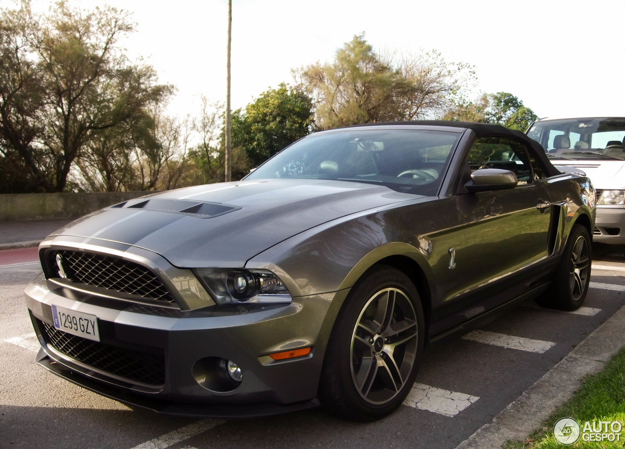 ford mustang shelby gt500 convertible 2010 27 december 2013 autogespot. Black Bedroom Furniture Sets. Home Design Ideas