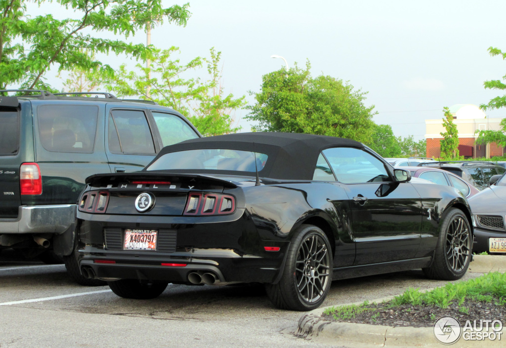2013 ford mustang shelby gt500 convertible hd image