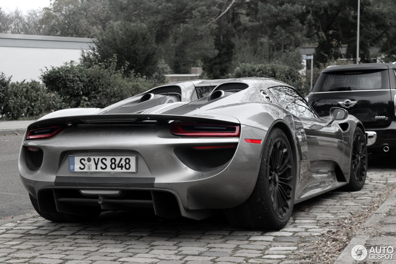 porsche 918 spyder 1 november 2013 autogespot. Black Bedroom Furniture Sets. Home Design Ideas